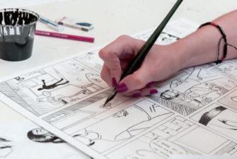 Atelier de bande dessinée à Liège
